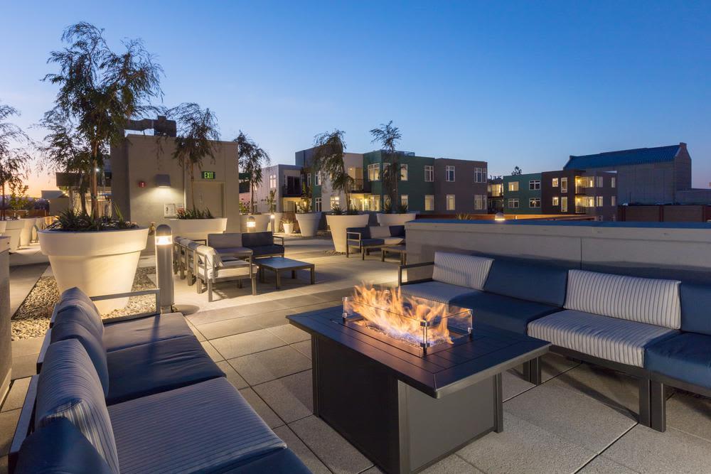 Beautiful fireplace in our Walnut Creek, California apartments