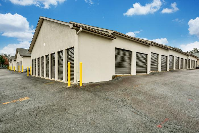 Beautiful exterior building at Space Shop Self Storage