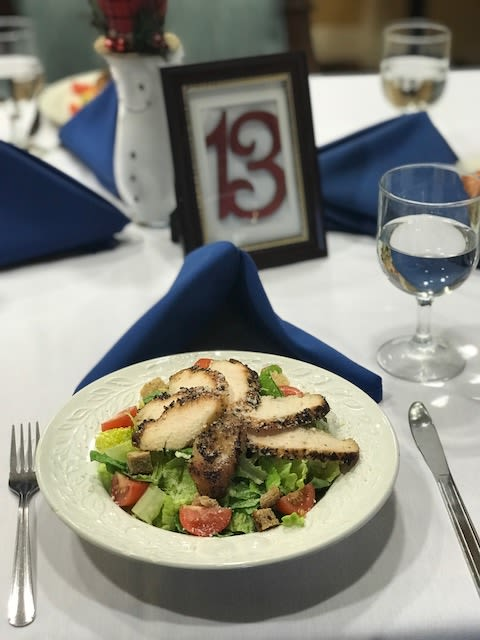 Chicken salad at Symphony Manor in Baltimore, Maryland