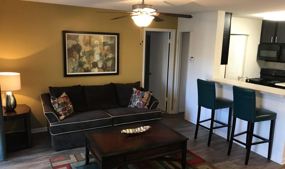Spacious living room at apartments in Tampa, FL