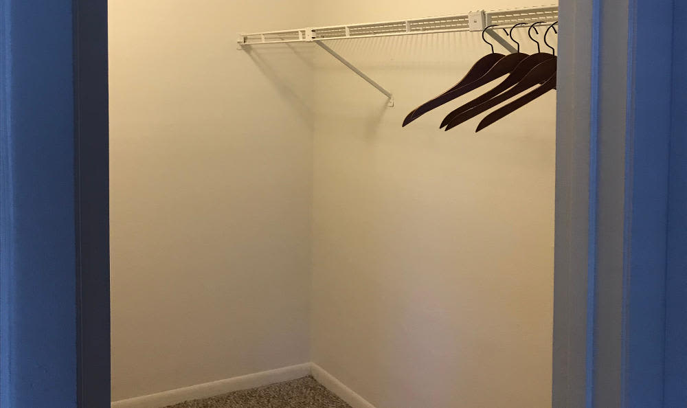 Walk-in closets at Palencia Apartments in Tampa