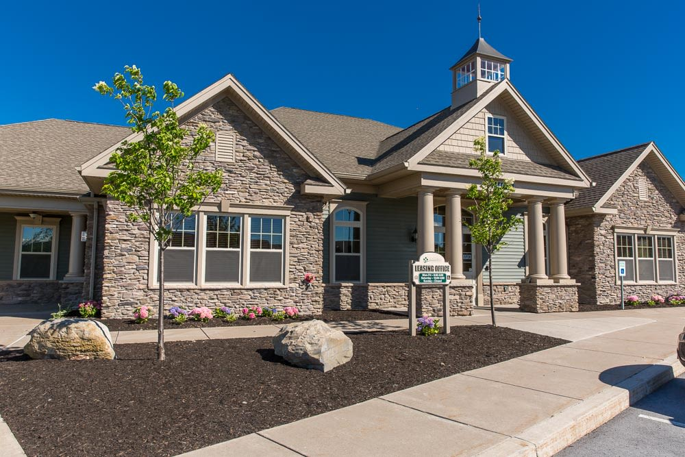 Preserve at Autumn Ridge clubhouse exterior view in Watertown, New York