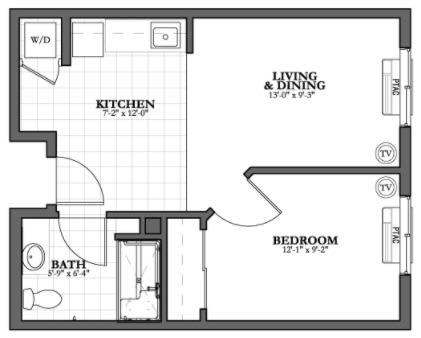 B2 - 1 Bed 1 Bath