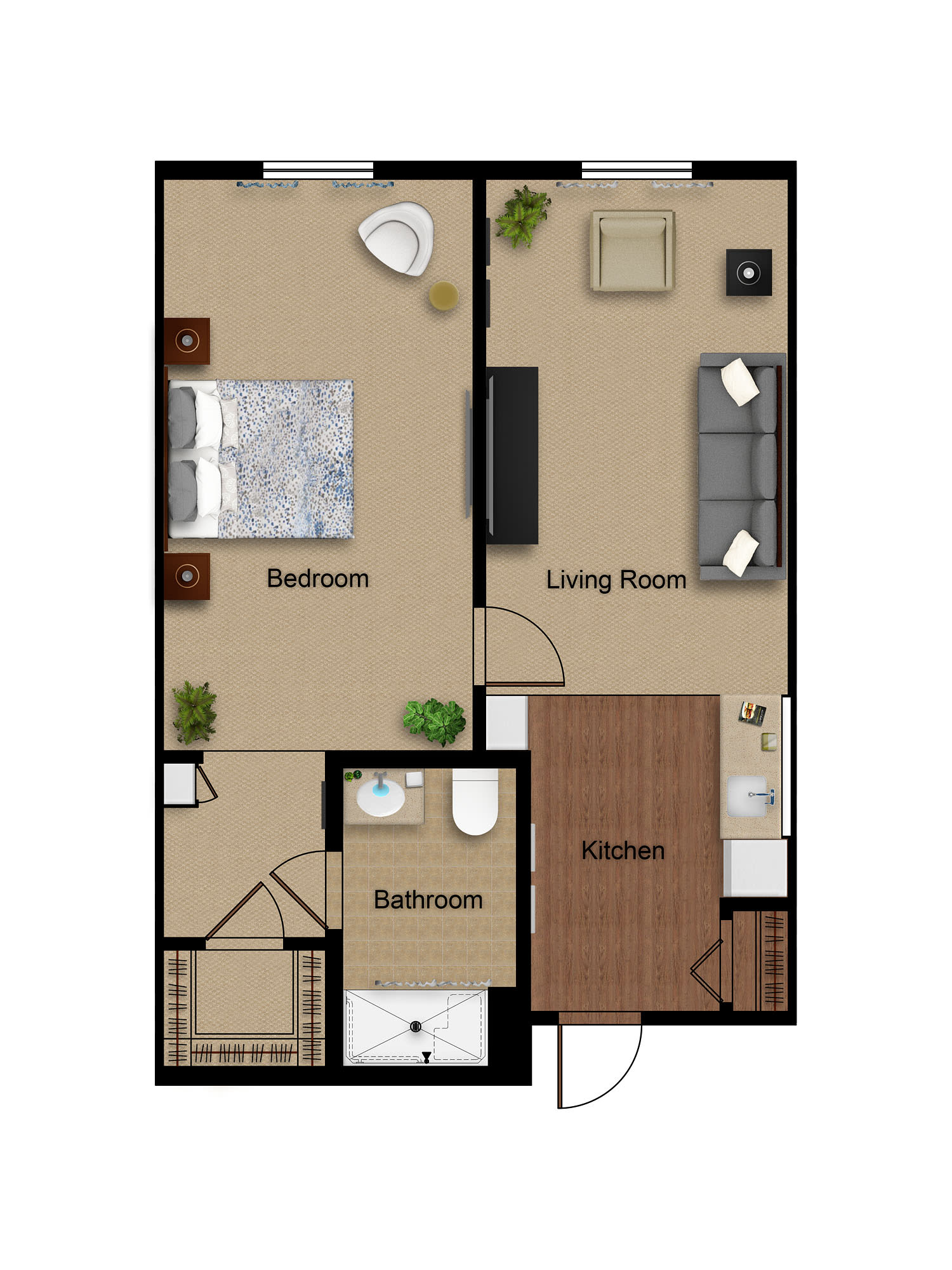 Sage Mountain assisted living one bedroom