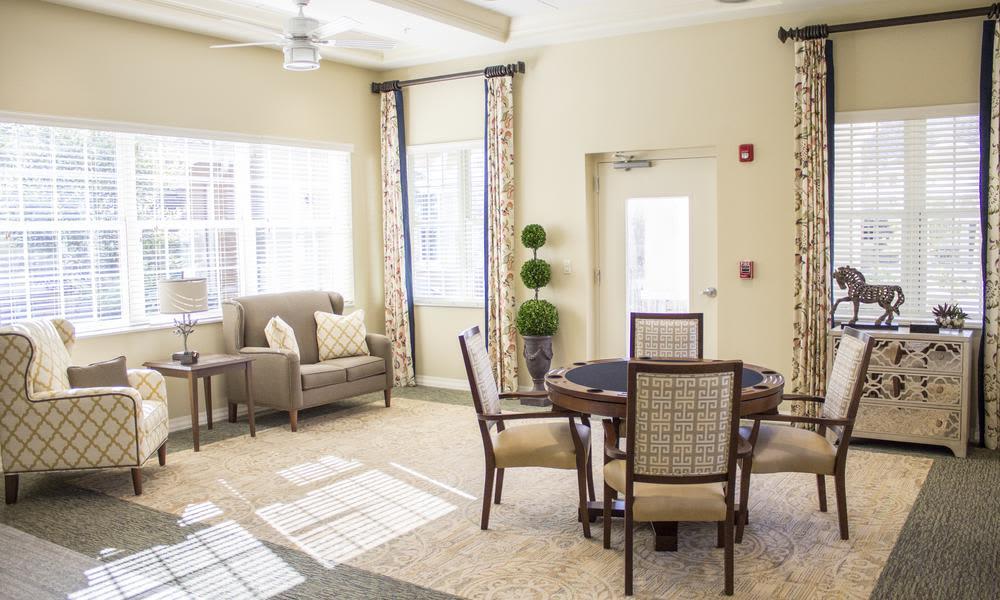 Beautiful living room of Bridgewater Park in Ocala, FL