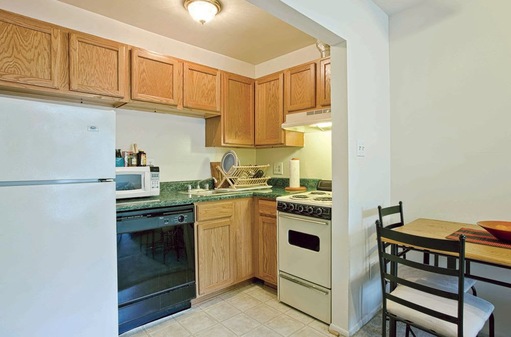Kitchen at Woods of Williamsburg Apartments