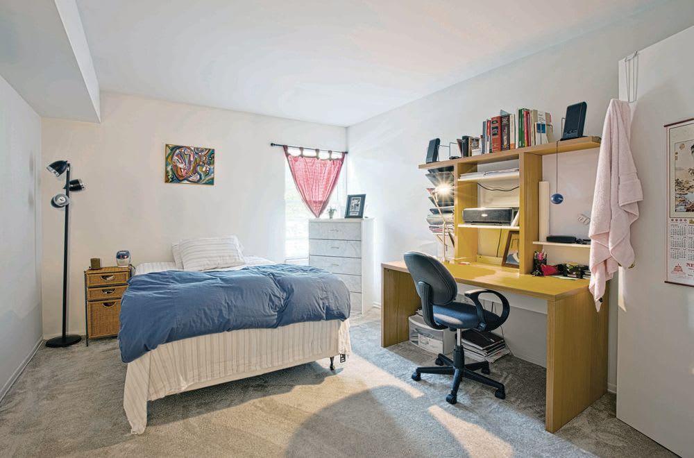 Bedroom at Woods of Williamsburg Apartments in Williamsburg, Virginia