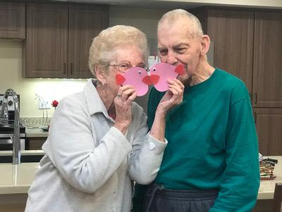Forever in love and together at Southern Knights Senior Living Community in Tomball, Texas