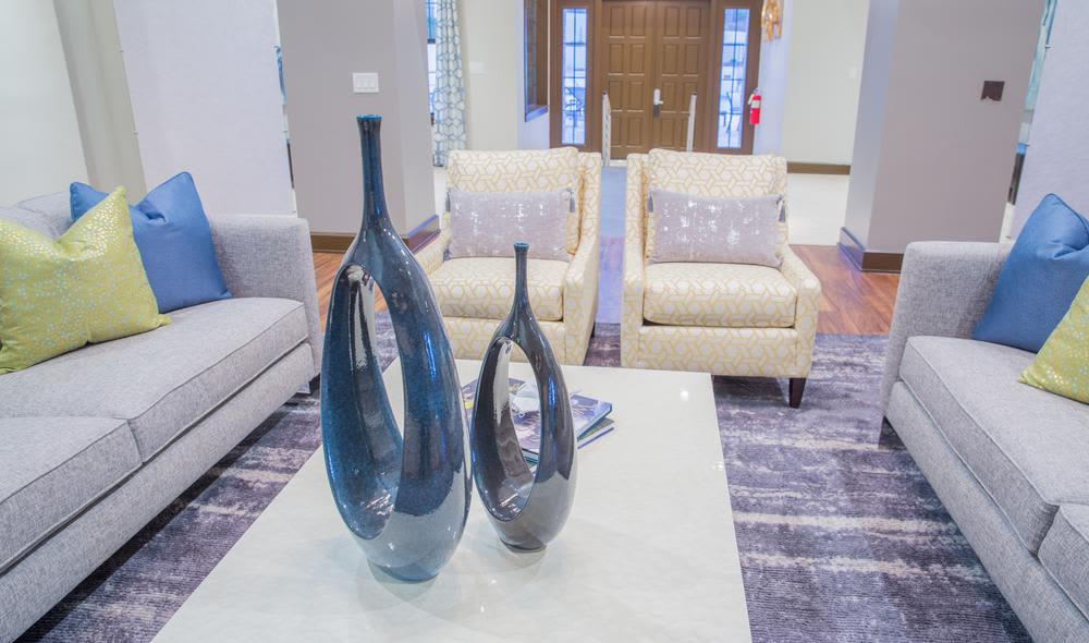 Inviting living room at The Residences at Vinings Mountain