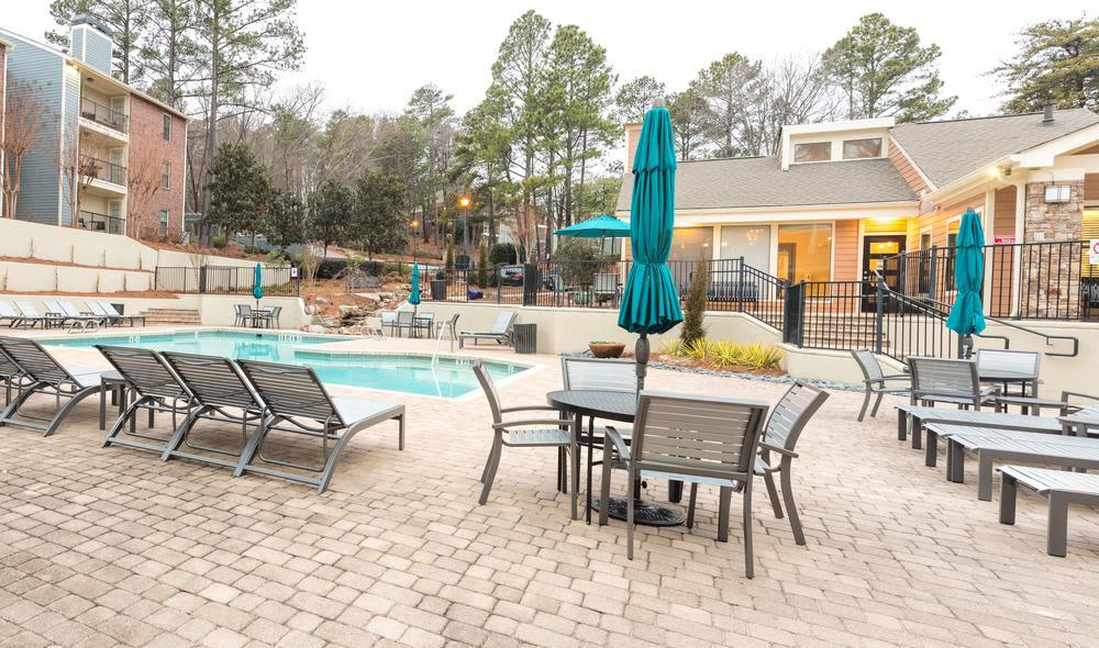 Swimming pool at The Residences at Vinings Mountain in Atlanta, GA
