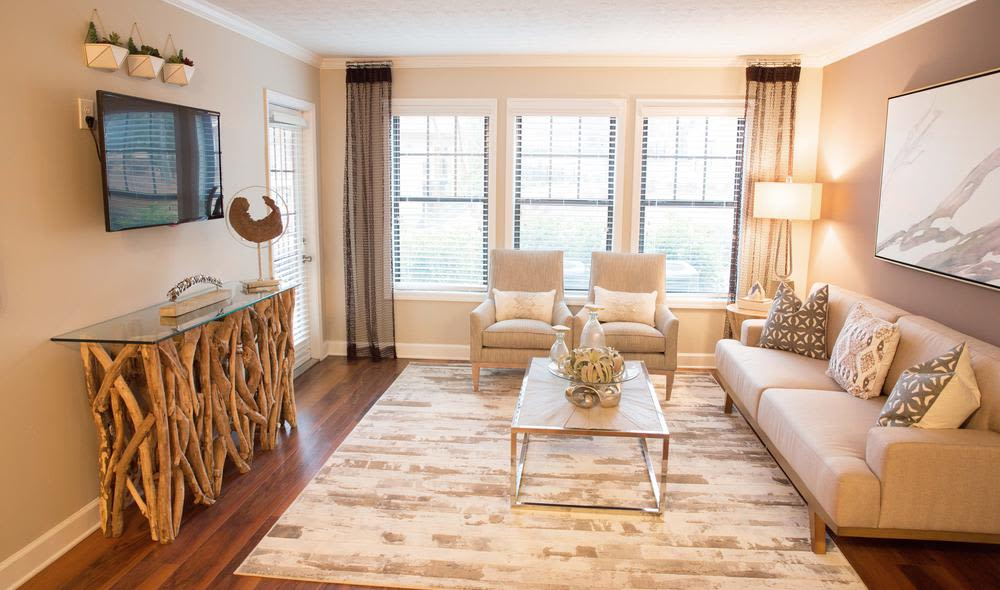 Resident living room at The Residences at Vinings Mountain