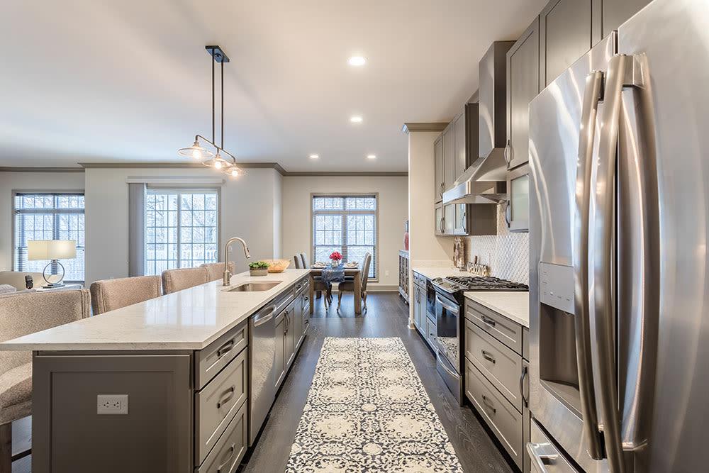 Spacious kitchen at Waters Edge Apartments in Webster, New York