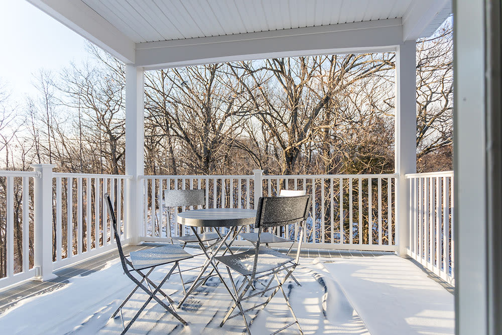 Nice terrace at Waters Edge Apartments in Webster, New York