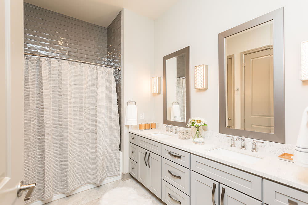 Unique bathroom at Waters Edge Apartments in Webster, New York