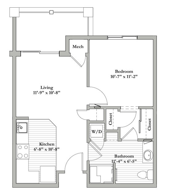 C - One Bedroom / One Bath