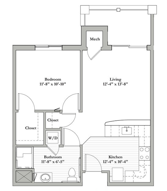 D - One Bedroom / One Bath