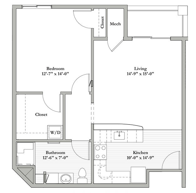 H - One Bedroom / One Bath
