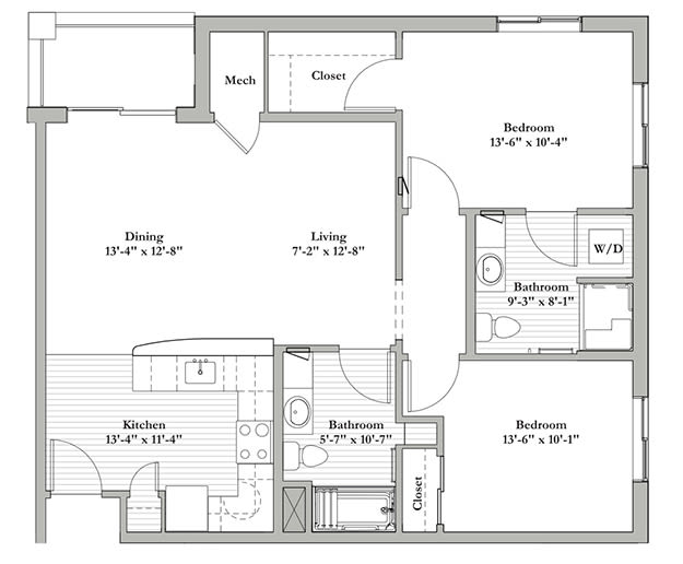 G - Two Bedroom / Two Bath