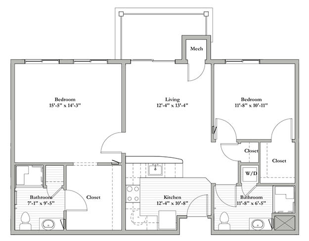 AD - Two Bedroom / Two Bath