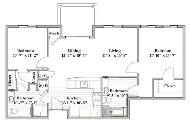 S6 - Two Bedroom / Two Bath