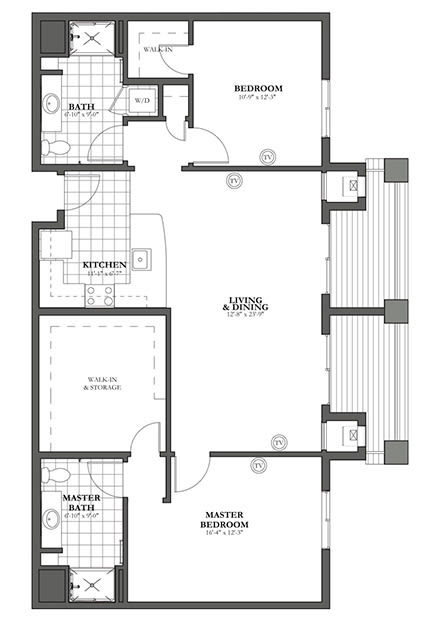DD - Two Bedroom / Two Bath