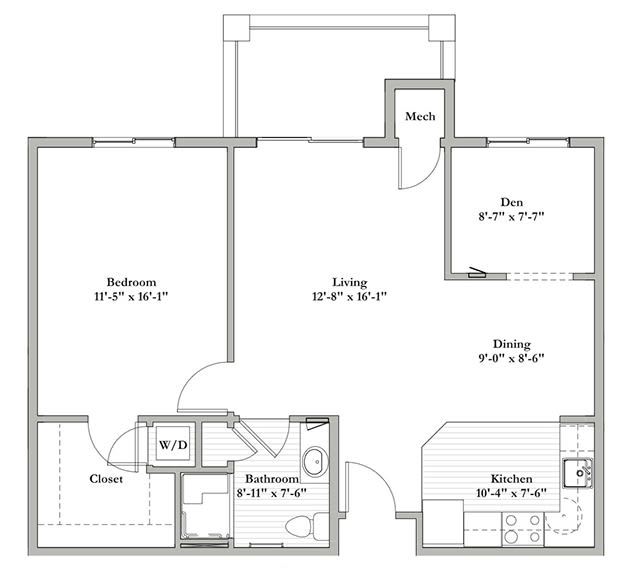F - One Bedroom / Den / One Bath