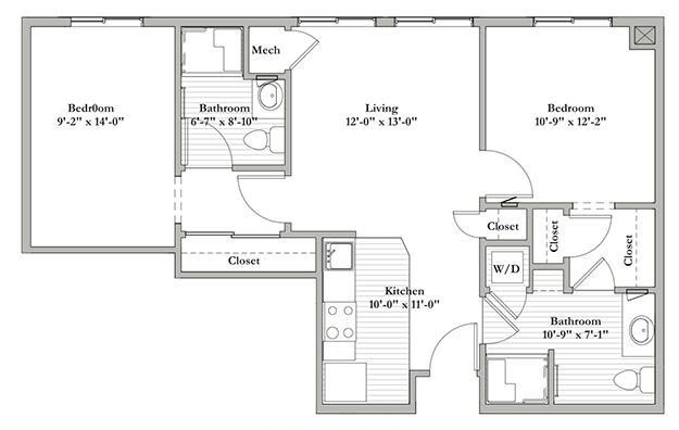 S8 - Two Bedroom / Two Bath