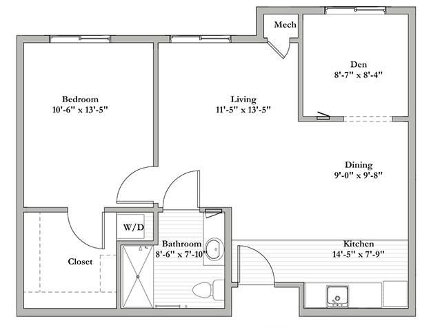 Assisted Living Floor Plan E