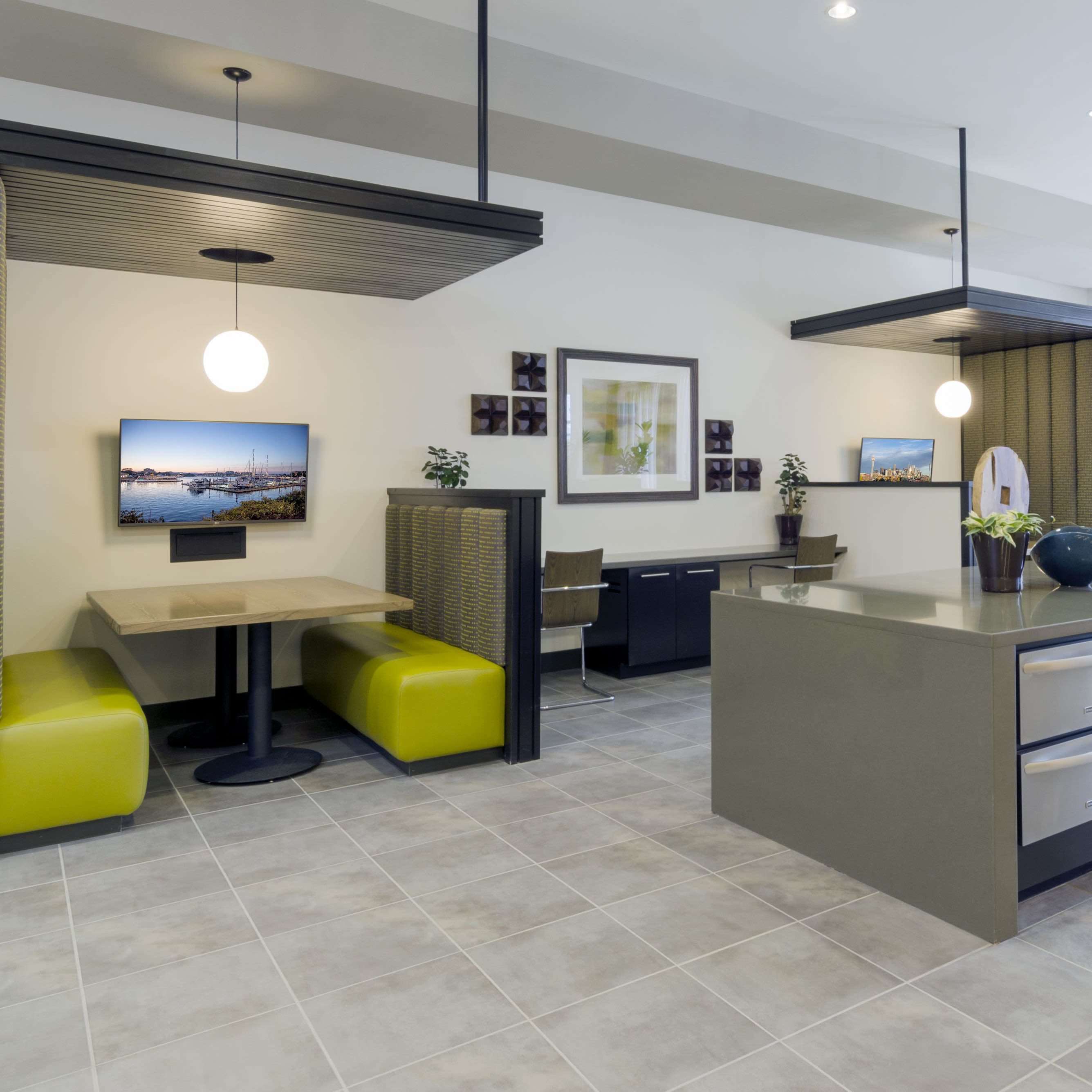 Modern Clubhouse at Solana Cherry Creek in Denver