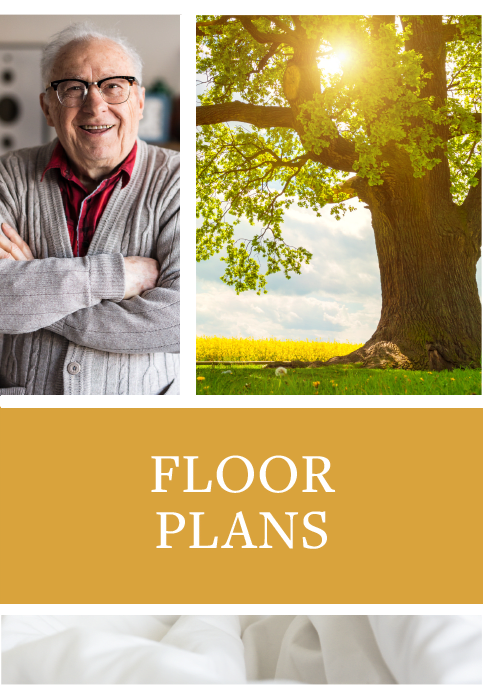 Floor plans offered at Wheatland Nursing Center in Russell, Kansas