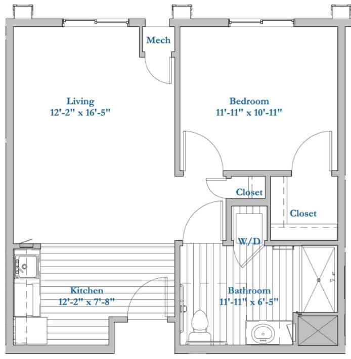 D-1 Bed 1Bath
