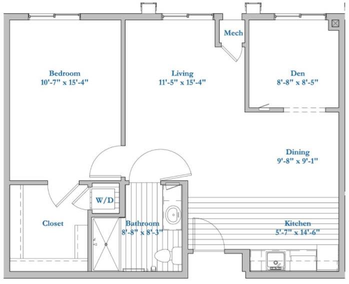 E122-1 Bed 1Bath