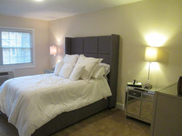 Beautiful bedroom at Eagle Rock Apartments at Woodbury in Woodbury, New York