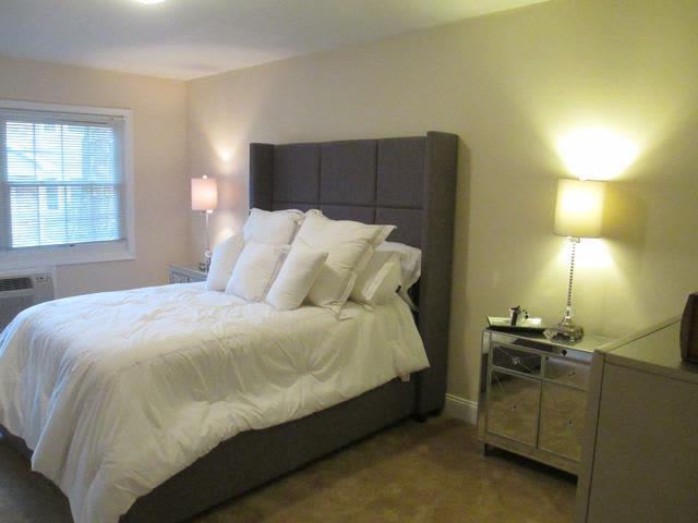 Beautiful bedroom at Eagle Rock Apartments at Woodbury in Woodbury, New York