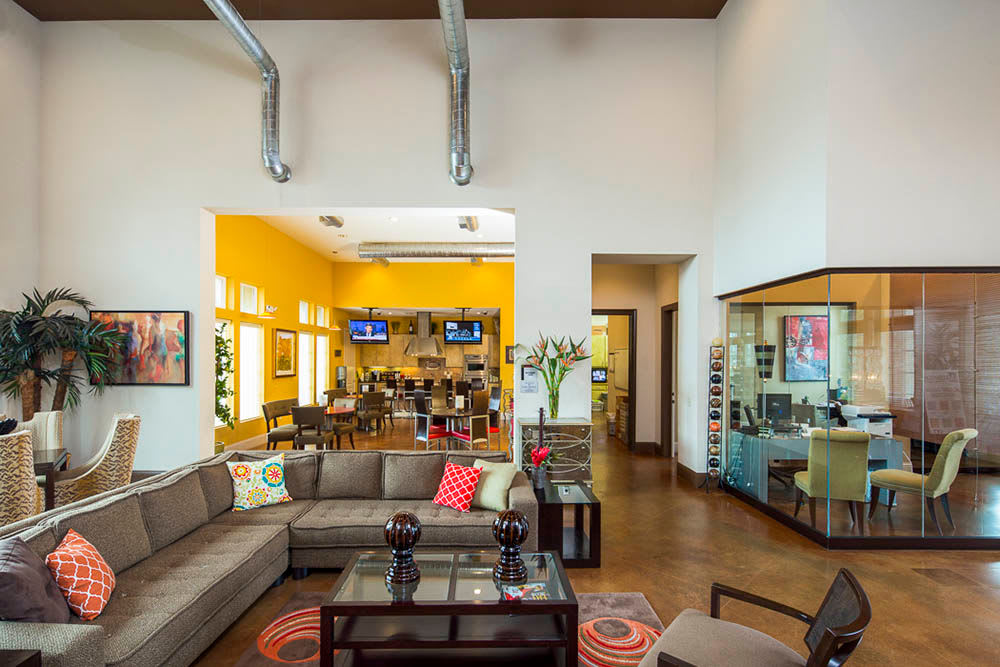 Clubhouse interior at Millennium Towne Center in Baton Rouge, LA