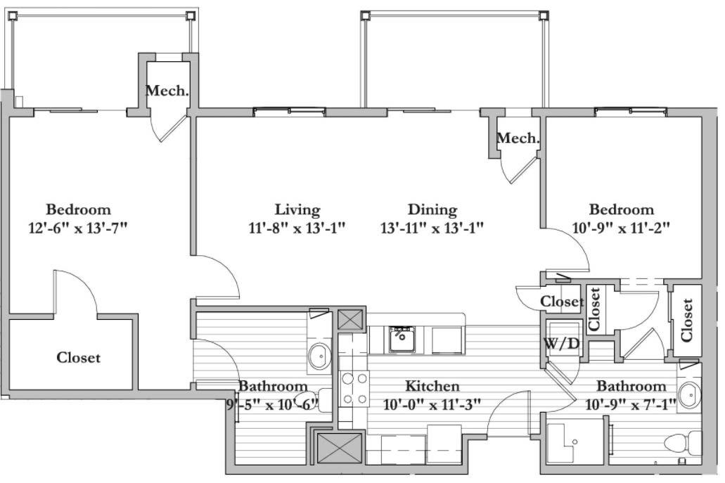 S6 - 2 Bed 2 Bath