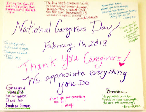 Bridgecreek celebrates National Caregivers Day