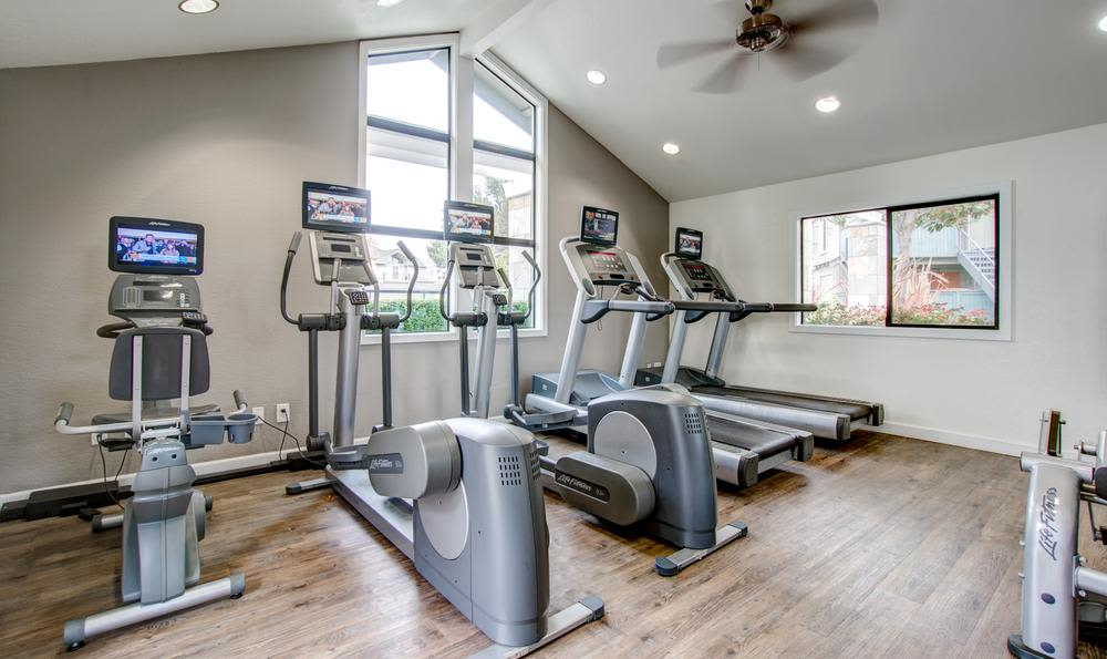 Beautiful fitness center at Vue Fremont in Fremont, California