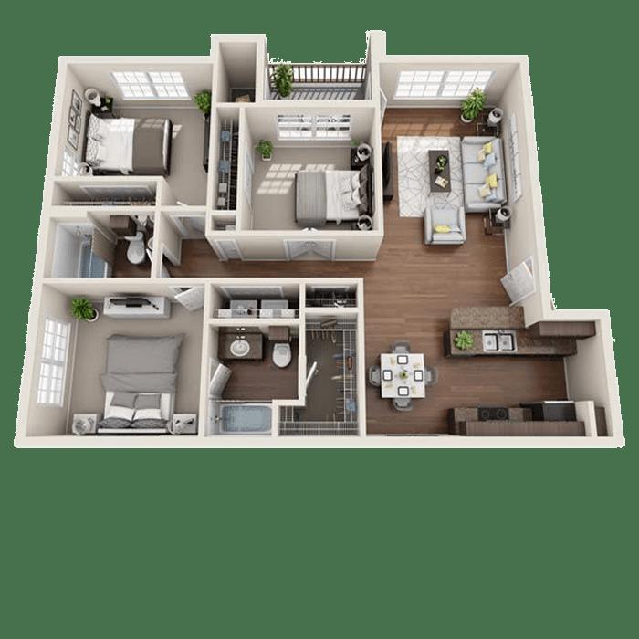 Luxury 1 2 Amp 3 Bedroom Apartments In San Antonio Tx