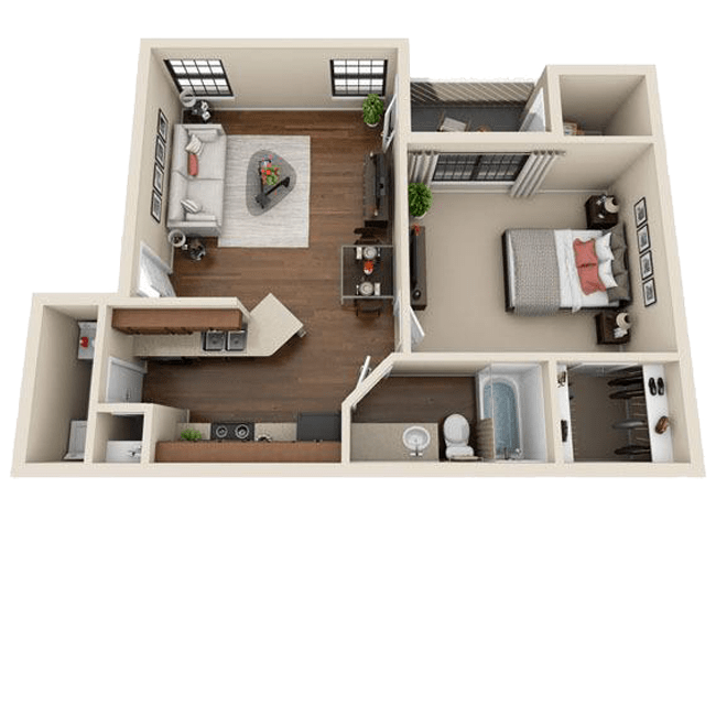 Spacious one bedroom apartment at Mountain View Apartment Homes in Colorado Springs, CO