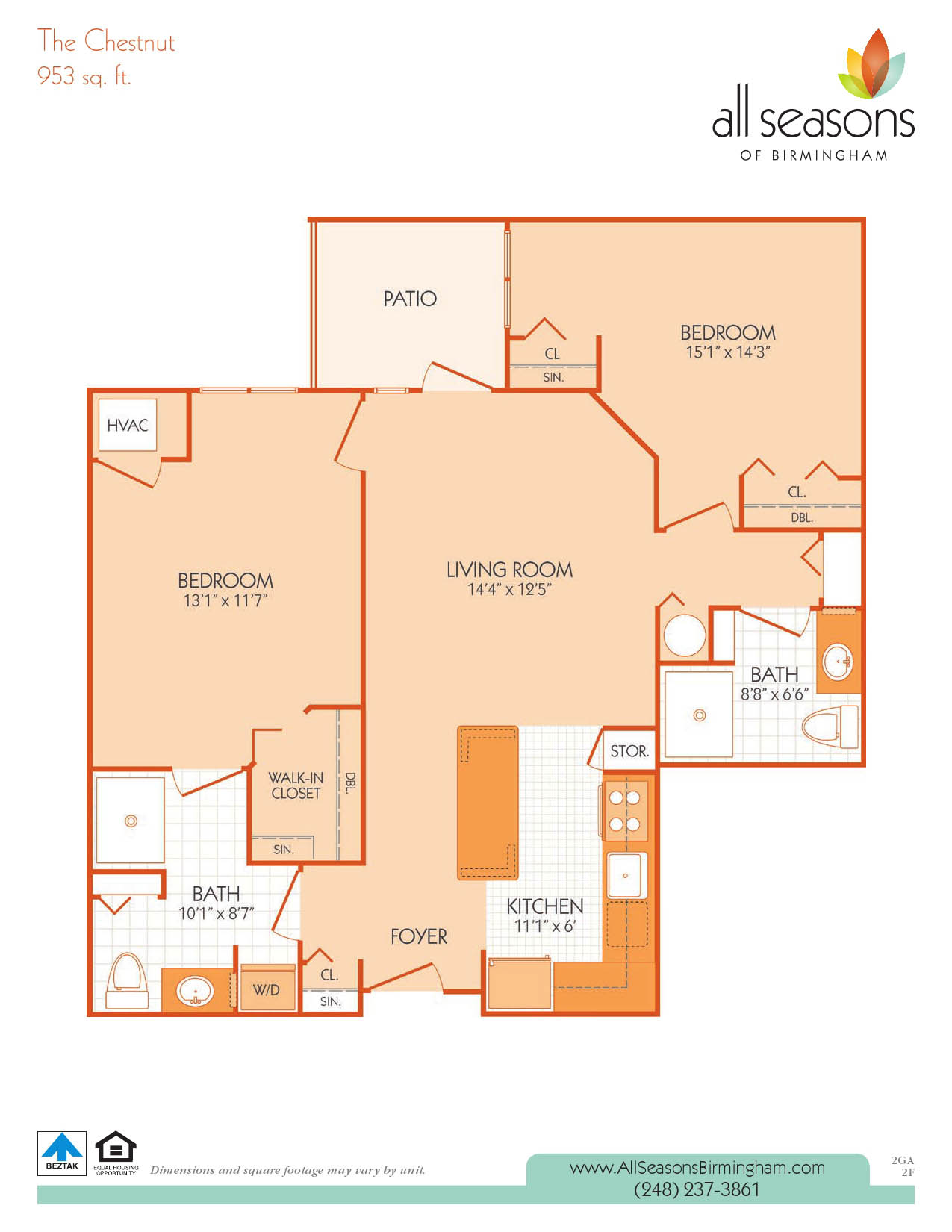 The Chestnut floor plan at All Seasons of Birmingham