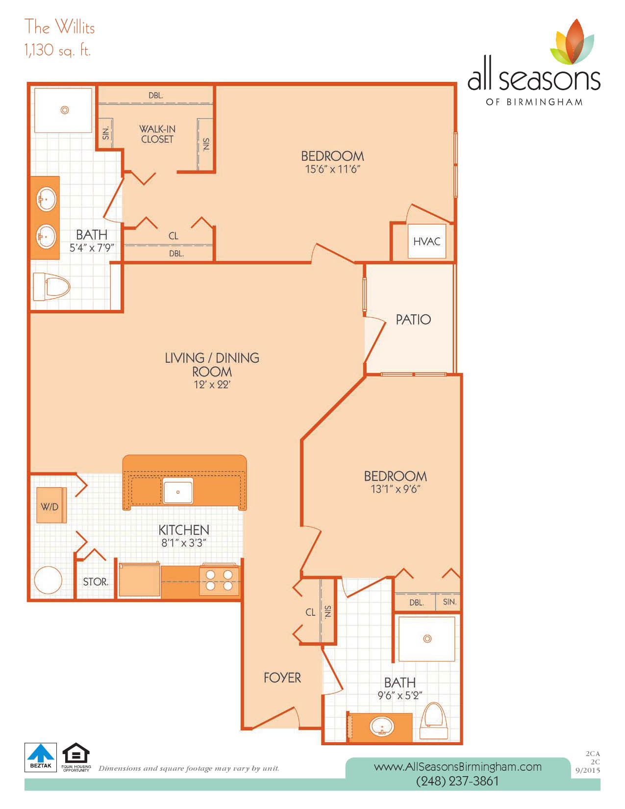 The Willits floor plan at All Seasons of Birmingham