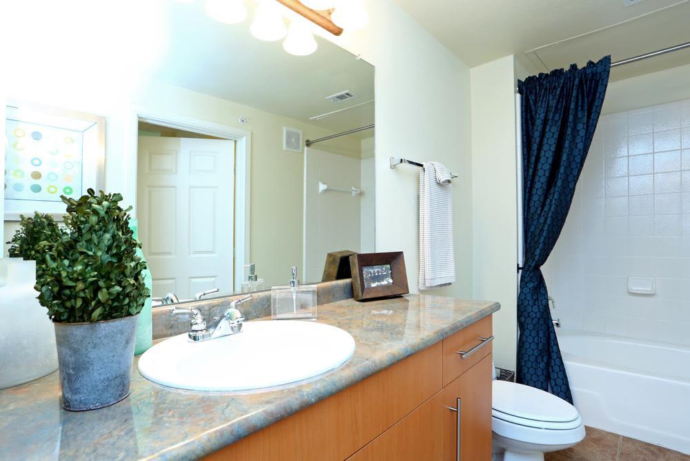 Bathroom at 1001 Ross in Dallas, Texas
