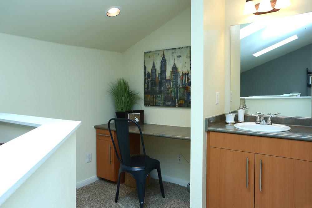 Beautiful bathroom at apartments in Dallas, Texas