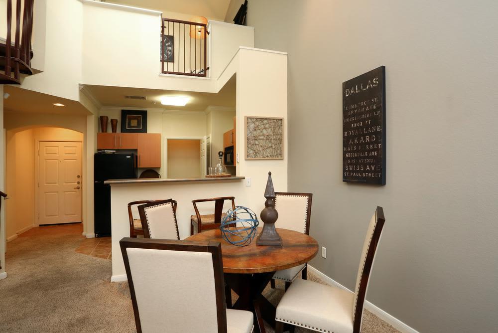 Modern living room at 1001 Ross in Dallas, TX