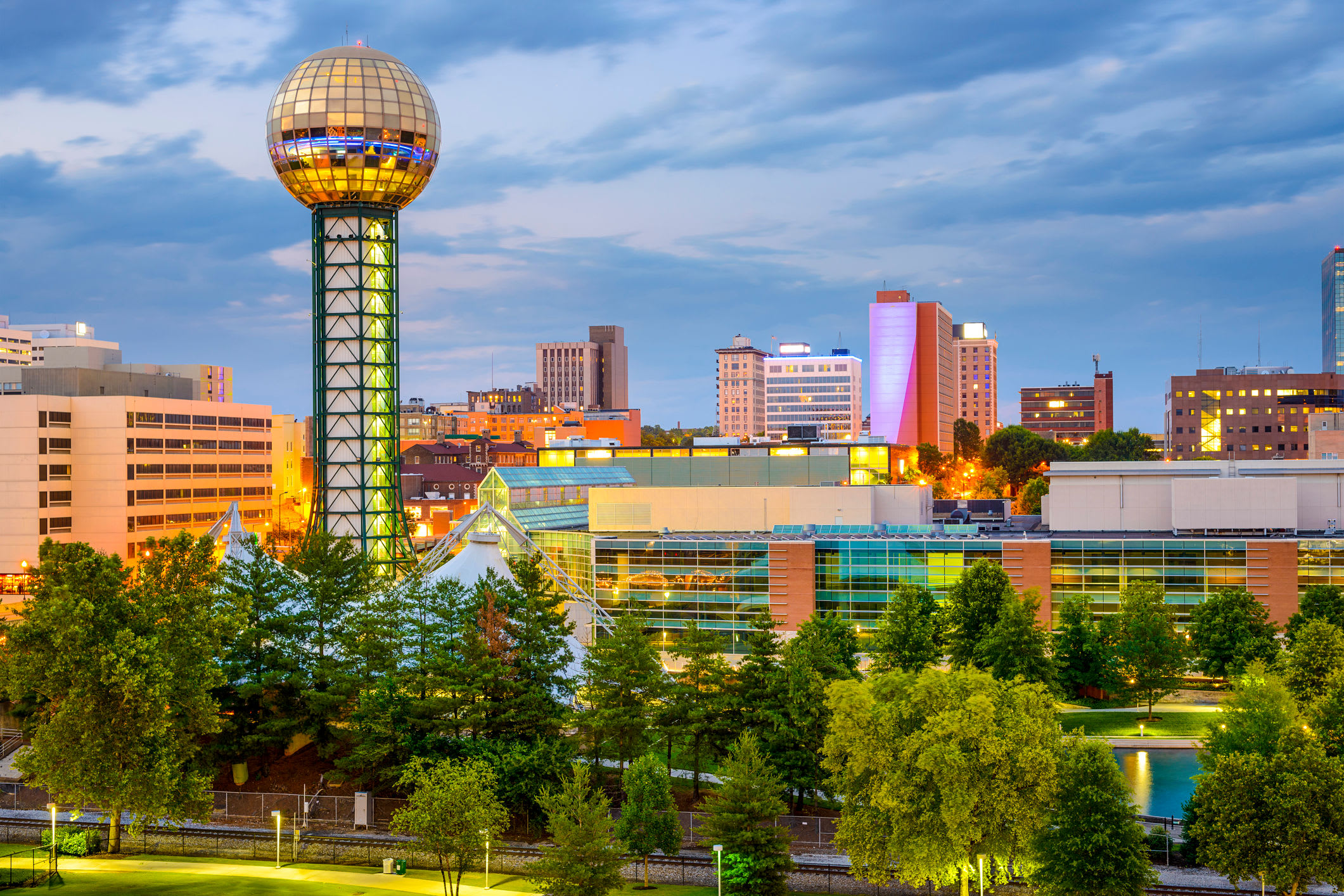 Stunning Knoxville, Tennessee skyline