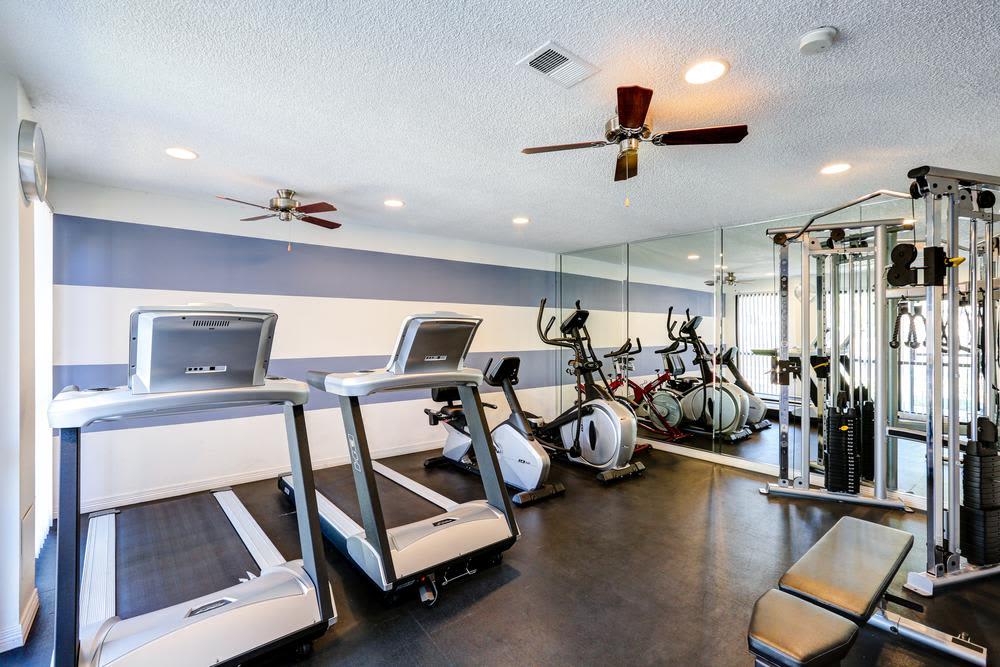 The beautiful fitness center at Deerfield Apartments