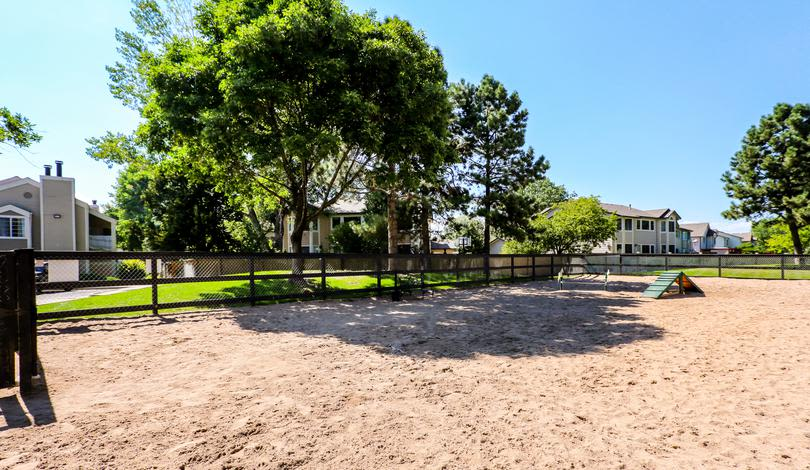 Dog park at Deerfield Apartments