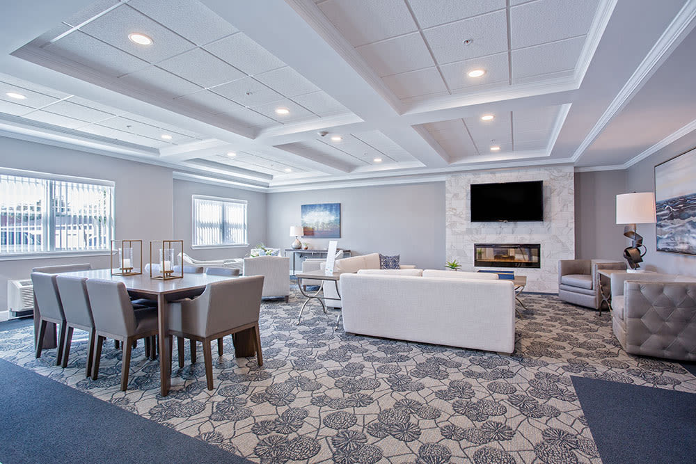 Luxury clubhouse at Villa Capri Senior Apartments in Rochester, NY