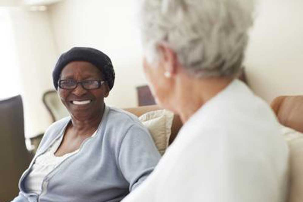 Residents smiling at Aspired Living of Westmont